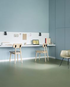 Marmoleum Click, dessinnr. 333355 Floor idea but also like the desk concept for the kidz