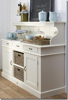 this would work well in my dinning room for a side board. Store my christmas dishes in the bottom and still have the top for decorations and kitchen items. Kitchen Items, New Kitchen, Kitchen Dining, Kitchen Decor, Kitchen Corner, Kitchen Storage, Dining Hutch, Kitchen Buffet, Corner Table
