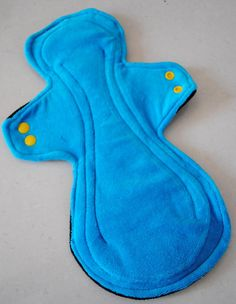 "Custom Order for Reusable Post Partum cloth sanitary pad, 13"", cotton velour topped - WITH pul"