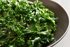Citrus Sesame Kale from Oh My Veggies