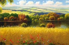 """""""Natural Reflections II"""" 24"""" x 36"""" Unframed Size Oil On Canvas - SOLD by Gerhard Nesvadba"""