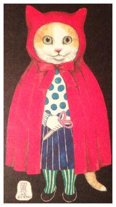 Art works by Yuko Higuchi Cat. Cats.
