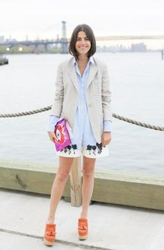Man Repeller Leandra Medine made an appearance at the Dior Cruise Show in Brooklyn
