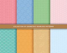 Set of seamless patterns. Flower Background Design, Tech Background, Background Patterns, Vector Background, Line Patterns, Heart Patterns, Textures Patterns, Halftone Pattern, Abstract Pattern