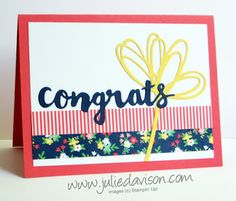 Stampin' up! Love & Affection Sunshine Wishes Sayings card #stampinup…