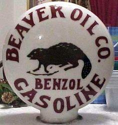 Beaver oil co gas pump globe