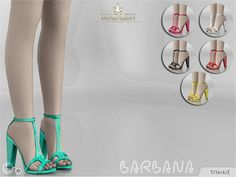 Sims 4 CC's - The Best: Barbana Shoes by MJ95