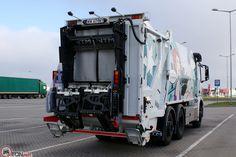 NTM KGHH z automatycznym urządzeniem NTM DynamicLift do szybkiego załadunku pojemników. Refuse truck, rear loader, garbage vehicles, Kommunalfahrzeuge, Benne a ordures, Recolectores, piccoli camion, Carico posteriore