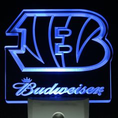 "Cincinnati Bengals Budweiser 4"" by 4"" LED Night Sensing Light"