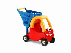 Little Tikes Cozy Shopping Cart Red/Yellow by Little Tikes. $34.95. From the Manufacturer                Now you can go shopping with Cozy Coupe and your favorite toys! Push them around just like your mom and dad do with you at the grocery store. Let's stock up on fun.                                    Product Description                The legendary Cozy Coupe has been combined with a toy grocery cart to create the perfect play shopping cart. Kids can take their d...