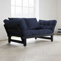 Fresh Futon Beat Black Convertible Sofa Navy Blue Beatbl003 Futonchairawesome Ikea