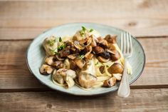 Linguine with artichoke and mushroom... healthy and delicious!