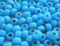 Lot of 25 9mm Opaque Turquoise Blue glass pony roller beads, large hole, big hole crow beads, Made in India, C0401