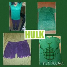 Diy hulk costume for girls tutorial using this idea but to make homemade hulk costume painted muscles solutioingenieria Image collections