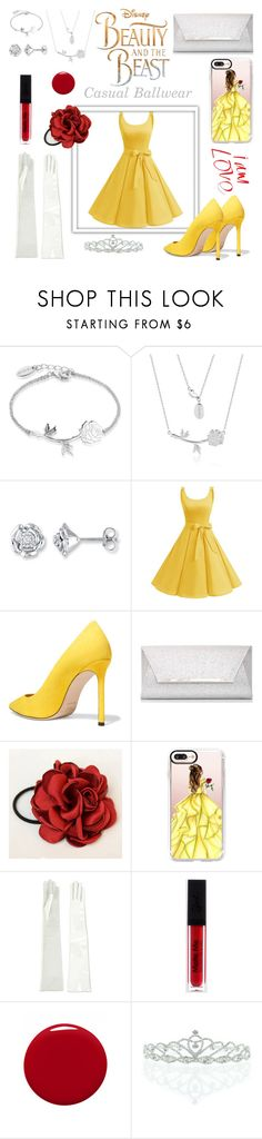 """""""Beauty & the Beast: Casual Ballwear"""" by natalielikesshopping ❤ liked on Polyvore featuring Laredo, Disney, Jimmy Choo, Dorothy Perkins, Casetify, Manokhi, Givenchy, Kate Marie, BeautyandtheBeast and contestentry"""