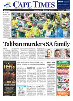 News making headlines: Taliban murders SA family