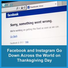 Facebook, Instagram, and Messenger experienced major outages in various parts of the world on Thursday, November 28.  That means many were left without the ability to share their Thanksgiving festivities on the two largest social networks. At the time of this writing, the problem still persists as users continue to report intermittent outages.  Instagram has acknowledged the outage via its Twitter account while noting its working to resolve the problem quickly. Facebook C, Facebook Instagram, Digital Marketing Trends, My Face Book, Social Networks, Thursday, Meant To Be, November, Two By Two