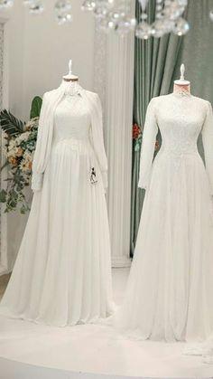 Muslimah Wedding Dress, Modest Wedding Gowns, Muslim Wedding Dresses, Wedding Dress Sleeves, Dream Wedding Dresses, Bridal Dresses, Tulle Wedding, Dress Lace, Worst Wedding Dress