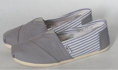 Cheap Toms canvas classic men shoes Grey  $ 19.00