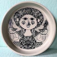 HTF-Mid-Century-Mod-Nymolle-Denmark-Artist-Bjorn-Wiinblad-8-75-Bowl-3029-1285