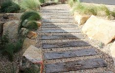 Garden path and Walkways are a critical part of virtually every garden landscape. Walkways can boost any landscape design. Concrete Walkways are a favorite. Landscaping Melbourne, Garden Landscaping, Landscaping Ideas, Landscape Design Melbourne, Walkway Garden, Diy Garden, Shade Garden, Dream Garden, Garden Path Lighting
