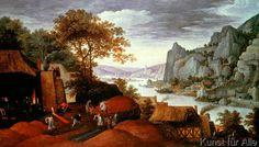Joachim Patinier - Flußlandschaft mit Hochöfen