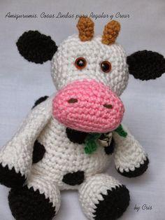 Mesmerizing Crochet an Amigurumi Rabbit Ideas. Lovely Crochet an Amigurumi Rabbit Ideas. Crochet Cow, Love Crochet, Crochet Gifts, Crochet For Kids, Diy Crochet, Crochet Dolls, Crochet Animals, Crochet Blanket Patterns, Amigurumi Patterns