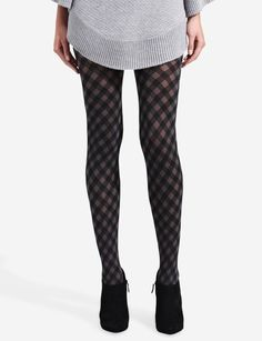 Two-Tone Argyle Tights | Women's Accessories | THE LIMITED