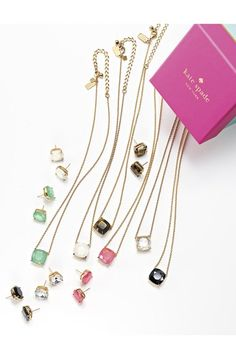 Kate Spade stone pendant necklace | buy it: http://rstyle.me/n/wg3hrsque
