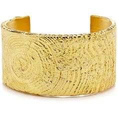 Rental Tom Binns Golden Rupture Cuff (800 ZAR) ❤ liked on Polyvore featuring jewelry, bracelets, gold, golden jewelry, tom binns jewelry, wood bangle, cuff bangle and 24k jewelry