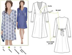 Kate Dress // Sizes 4 6 & 8 // Wrap Dress Pattern for by StyleArc