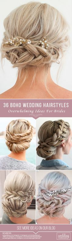 36 Overwhelming Boho Wedding Hairstyles ❤ Here you will find a plethora of boho wedding hairstyles for any tastes, starting with elegant braided updos and ending with some creative solutions. See more: http://www.weddingforward.com/boho-wedding-hairstyles/