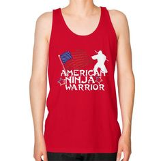 American Ninja Warrior Unisex Fine Jersey Tank (on man) Shirt