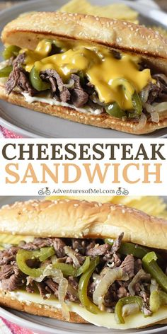 How to make the best Philly Cheesesteak ever, using sirloin steak, mushrooms, peppers, and onions. Easy skillet meal and traditional sandwich recipe! #adventuresofmel #Phillycheesesteak #sandwichrecipes #easydinnerideas #meatlovers