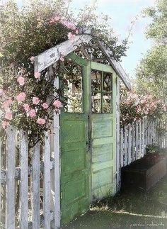 A picket fence and arbor for the coop...why not? -Ginn