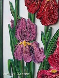 Картина панно рисунок Квиллинг Мои ирисы Бумажные полосы фото 6 Quilling Comb, Neli Quilling, Paper Quilling, Quilled Roses, Quilling Flowers, Paper Flowers, Welding Projects, Woodworking Projects, Board Game Geek