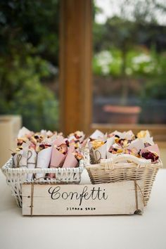 Paper cones of dried flowers double as confetti for this romantic wedding send-o. Paper cones of dried flowers double as confetti for this romantic wedding send-off. Wedding Send Off, Wedding Favors, Diy Wedding, Rustic Wedding, Wedding Venues, Wedding Decorations, Wedding Ideas, Perfect Wedding, Cheap Wedding Reception