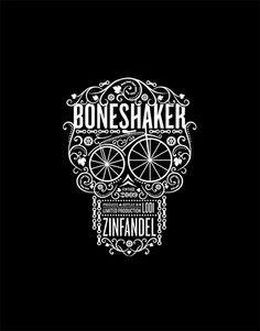Boneshaker wine. CFNAPA Brand Design. Love.