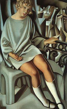 Tamara de Lempicka, Kizette on the Balcony, 1927