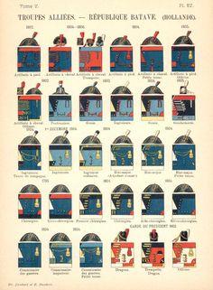 Батавская республика. 1795-1806. Союзные войска. Uniformes de I'Armee Francaise 1690-1894 Lienhart & Humbert