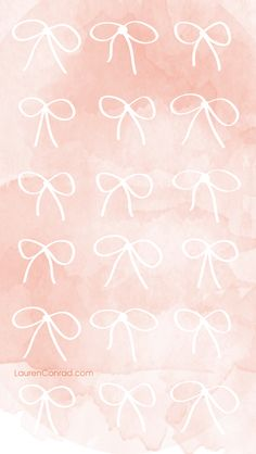 LaurenConrad.com Pink Bow iPhone Background