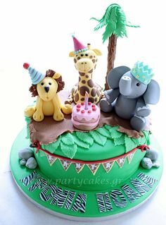 Zoo Cake by Party Cakes By Samantha, via Flickr