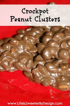 Crock Pot Peanut Clusters are so simple to make and amazing to eat!  An easy candy recipe for a classic sweet treat!