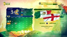 Calendar FIFA World Cup 2014. Awesome colors and visual composition. I loved it!