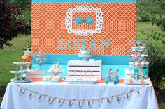 Modern Little Man 1st Birthday Party with Lots of REALLY CUTE Ideas via Kara's Party Ideas | KarasPartyIdeas.com #LittleManParty #PartyIdeas #Supplies (22)