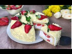 RICETTA SPECIALE DELLA NONNA - TORTA MIMOSA ALLE FRAGOLE - YouTube Cool Baby Stuff, Biscotti, Shabby Chic, Strawberry, Food And Drink, Victoria, Drinks, Cake, Desserts