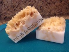 Sea Sponge soap bars with mango and shea butter soap #soapmakingbusiness #soapmakingbusinessideas