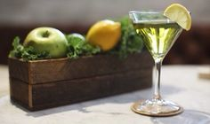 Recipe: Kale Martini - Q by Equinox. Veggies and alcohol together? I'll give it a try