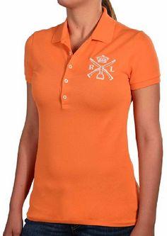 awesome Ralph Lauren Women's Mesh Crown Equestrian Polo Shirt
