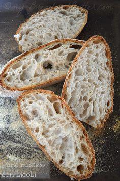 Bread and Butter |ricette facili e gustose: Pane rustico a lievitazione naturale Focaccia Pizza, Bread Recipes, Cooking Recipes, Bread N Butter, Easy Bread, Zucchini Bread, Sourdough Bread, Tasty Dishes, Food Photography